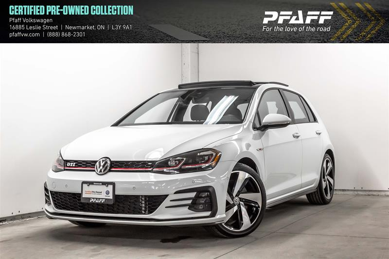 Certified Pre-Owned 2018 Volkswagen Golf GTI 5-Dr 2.0T Autobahn 6sp DSG at w/Tip