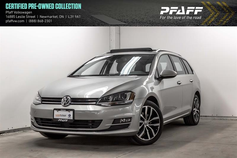 Certified Pre-Owned 2015 Volkswagen Golf Sportwagon 1.8T Highline at w/Tip