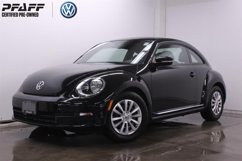 Certified Pre-Owned 2015 Volkswagen The Beetle Trendline 1.8T 6sp at w/ Tip